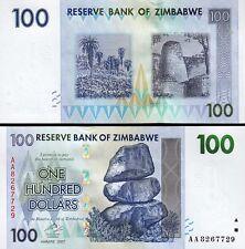 ZIMBABWE 100 DOLLARS 2007 UNC P-69 PREFIX AA