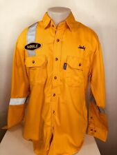 WESTEX CRUDE FR Flame Resistant / Reflective NOBLE OIL GAS / JODY Mens Lg Shirt