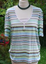 Hübsches T-Shirt Kurzarm Größe L gestreift Gerry Weber
