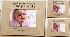 PERSONALISED Wooden PHOTO Frame For GODPARENTS Godmother Godfather Gift Ideas
