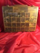 Vintage ~ Magnum ~ Model 1152 ~ By Plano ~ 2 Sided Tackle Box ~ W/ Tackle