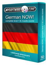 Aprender + hablan alemán ahora! Completo De Nivel 1 Y 2 Audio Curso De Lengua Mp3 Cd De Regalo