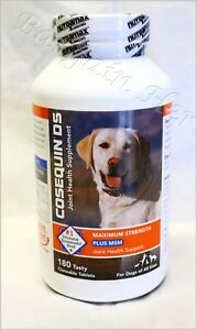 Cosequin DS Plus MSM Max Joint Health 180ct for Dogs Free Shipping 09/2024