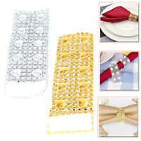 Napkin Rings Acrylic Heart Diamond Serviette for Wedding Banquet Table Decorate