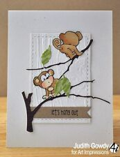 Owl & Monkey mini DIE SET (no stamps L@@k@examples ART IMPRESSIONS RUBBER STAMPS