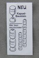 Überraschungsei Zettel von 1988 ca. 1,6 x 3,4 cm Wer baut den höchsten Turm BPZ