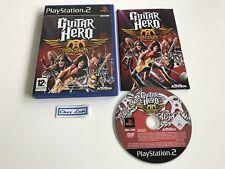 Guitar Hero Aerosmith - Sony PlayStation PS2 - FR - Avec Notice