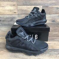 Adidas Dame 6 GCA Lights Out Basketball Shoes Men's 6.5 Black Damian Lillard NIB