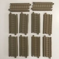 "Thomas & Friends Train TRACKMASTER Tan Tracks Replacement 4"" Straight Lot of 10"