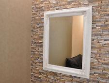 Barock Spiegel WEISS Wandspiegel 100x80 cm Deko Vintage Neu Zierspiegel Breit