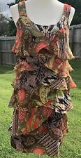 Signature By Robbie Bee Womens Dress Sz 6 Lined Ruffles