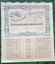 Dépt 37 - Tours - Superbe Action de 100 F d'Une Société Chimique du 12/02/1913