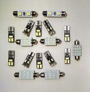 17x BMW 5 Series - E60 White LED Interior lighting kit 528i 530i 545i 550i