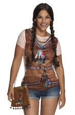 Indianerin Handtasche Damen Tasche Federschmuck Umhängetasche Fasching Karneval
