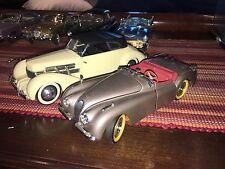 Lot Of 2 Danbury Franklin Mint 1949 Jaguar XK120 Cord 812 Roadster 1:24