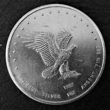 1982 Monex International LTD Eagle 1 Troy oz .999 Fine Silver Art Round