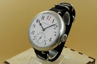 Rarest One of the first Hy Moser&Cie Watch Co Enamel Dial Big Military WWI Orign