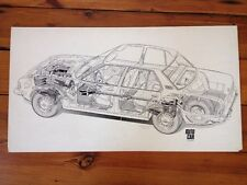 Original Cutaway Drawing Opel Rekord Autocar Magazine Illustration Jan 1972