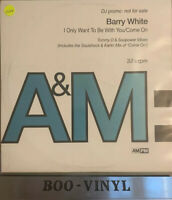"BARRY WHITE -I ONLY WANT TO BE WITH YOU 12"" Promo House Vinyl Record Ex"