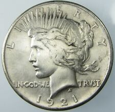 1921 High Relief Silver Peace Dollar $1 Key Date XF Details