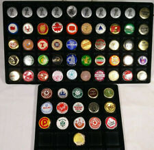 Lot of 66 Old Plastic Lined Foreign Beer Bottle Caps Crowns Mixed Non Cork