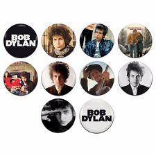 10x Bob Dylan Folk 25mm / 1 Inch D Pin Button Badges