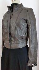 ZARA Faux Leather Bomber Jacket Cropped Women's Size Medium L