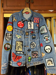 Supreme Patches Denim Trucker Jacket S Blue SS18 NWT Authentic