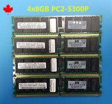 32GB 4x8GB DDR2 PC2-5300P ram for  DL365 DL385 DL585 G5 xw9400 dell 2970