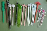 Vintage Stir Swizzle Sticks Lot Hotel Bar Clubs Playboy Tiki Peabody 19 +9 picks