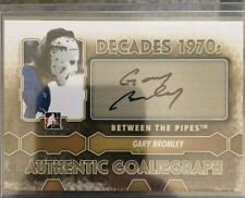 2012-13 ITG Decades 1970s Auto GoalieGraph Gary Bromley 12/13 Between The Pipes