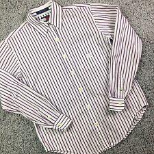 TOMMY HILFIGER button down shirt Size 6 Blouse puple VINTAGE Stripe