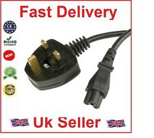 UK Laptop 3 Pin Main Clover Leaf C5 Cable Power Cord P3(2 Meter)