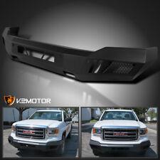 2014-2015 GMC Sierra 1500 Replacement Front Bumper Matt Black Heavy Duty Steel