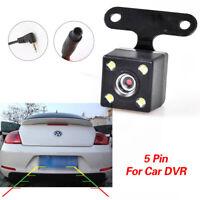 4 Led HD CCD Car Rear View Camera Reverse Backup Parking Cam Waterproof 5 Pin