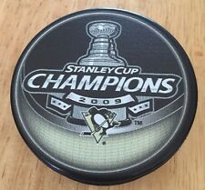 2009 Pittsburgh Penguins Stanley Cup Champions Hockey Puck With Free Shipping