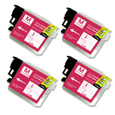 4 MAGENTA Ink Cartridge Compatible for Brother LC61 MFC J220 J265W J270W