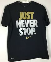 mens nike t shirt Large graphic tee short sleeve Crew Just Never Stop
