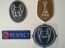 18/19 UEFA CHAMPIONS LEAGUE Real Madrid  SET Soccer 4 Patches Jersey Bale Badge