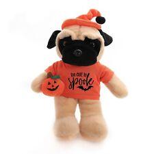 "Halloween Floppy Pug 12"" Too cute to Spook Plush Stuffed Animal"