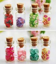 Lot of 4PCS GLASS JAR W/ Various Fruit 1/12 Dollhouse Miniature