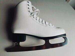 Jackson Glacier 350 White Ice Figure Skates - UK Size 5.5, Amazing Condition