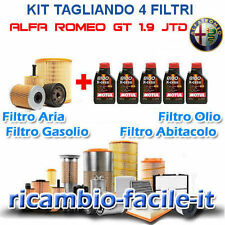 KIT TAGLIANDO ALFA GT ROMEO UFI SOFIMA + OLIO MOTUL 8100 5W40 1.9 JTD 4 FILTRI