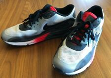 Nike Air Max Lunar 90~Running Shoes Size 11~Black/White/Red~631744-100~Mint