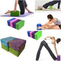 Hard Yoga Block Foam Brick Stretching Aid Gym Pilates For Exercise Fitness WA