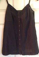 Banana Republic Woman's Navy Blue Button Up Embellished Cami - Size X-Small