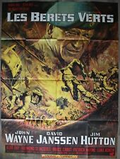 LES BERETS VERTS The Green Berets Affiche Cinéma / Movie Poster JOHN WAYNE