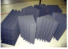 Acoustic Studio Foam Dark Charcoal 6 Base Absorbers Traps and 6 Wedge Tiles