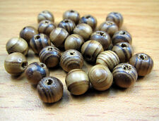 FREE LOT Charm Wood Ball Spacer Bracelets Findings Round Loose Prayer beads 8mm