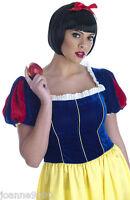 Ladies Womens Fairytale Princess Snow White Long Fancy Dress Costume Plus Size